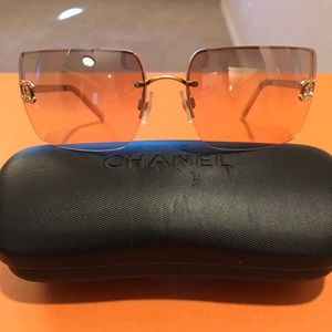 Chanel Champagne Sunglasses with Bling Logo